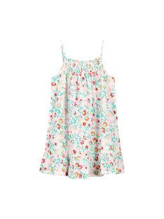 Girls' cotton floral summer dress FAJOROB14 / 19S901G6ROB000