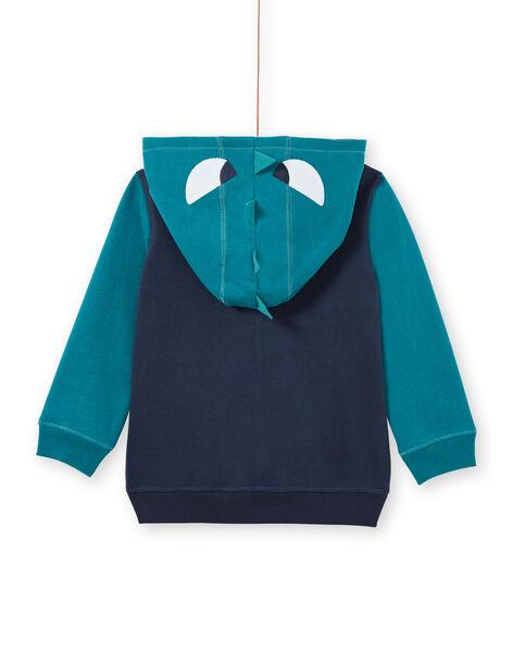 Boy's midnight blue crocodile hoodie MOTUGIL2 / 21W902K2GIL705