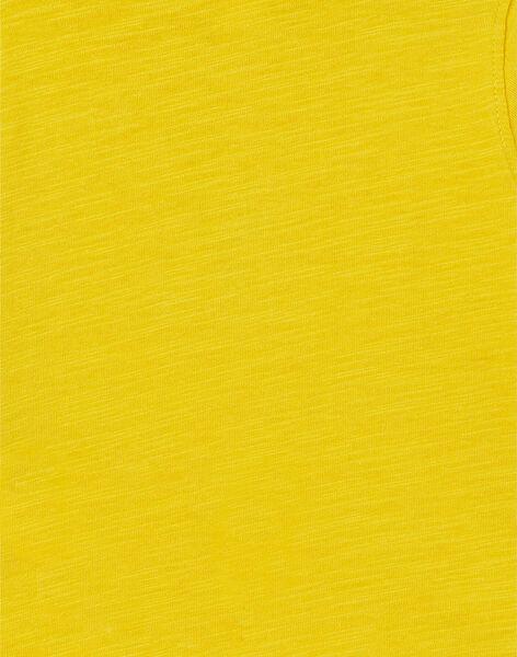Baby boy yellow t-shirt LUJOTUN3 / 21SG1036TML106