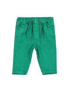 Baby boys' green trousers FUJOPAN3 / 19SG1033PANG603