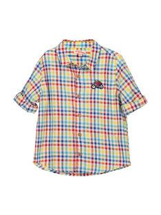 Boys' checked shirt FOCOCHEM / 19S90281CHM099