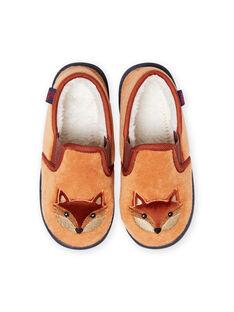 Slippers yellow fox pattern baby boy MOPANTROUX / 21XK3636D0B010