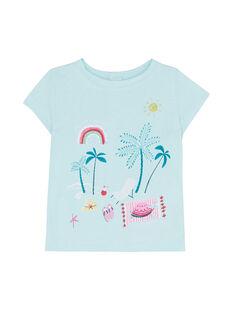 Ice blue T-shirt JIQUATI / 20SG09R1TMC219