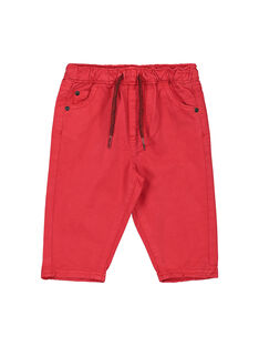 Baby boys' red trousers FUJOPAN1 / 19SG1031PANF505