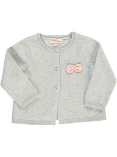 Girls' knitted cardigan CIJOGIL4 / 18SG09R5CAR943