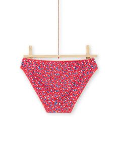 Set of 5 matching flowery printed panties child girl MEFALOTSEM2 / 21WH11B2D5L001