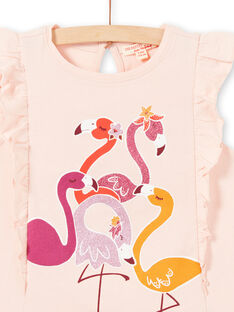 Tank top with ruffles and pink flamingos print LATERDEB1 / 21S901V1DEBD322