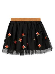 Dark brown Skirt GABRUJUP2 / 19W901K2JUPI813