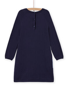 Long sleeve dress with unicorn pattern for girls MAPLAROB1 / 21W901O2ROBC202