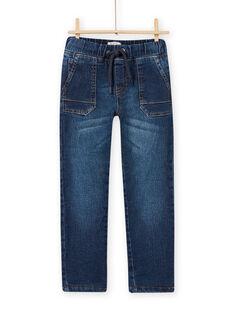 Baby Boy Fleece-Lined Regular Jeans MOPLAJEAN / 21W902O1JEAP274