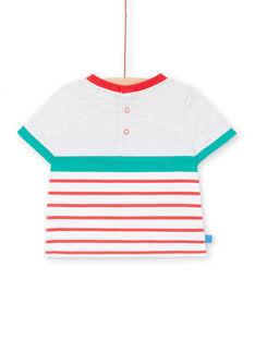 Grey t-shirt baby boy LUVITI2 / 21SG10U2TMCJ920