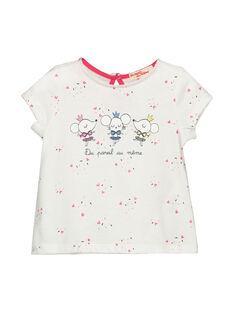 Baby girls' short-sleeved T-shirt FICOTI / 19SG0981TMC000