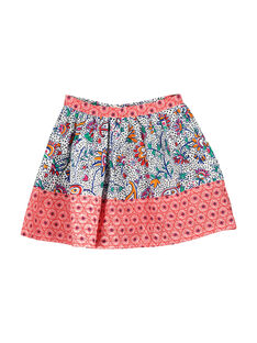 Girls' fancy cotton skirt FATOJUP1 / 19S901L1JUP099