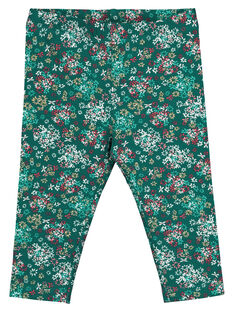 Baby girls' printed leggings GYIVELEG / 19WI0921CALG627