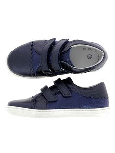 Girls' leather city trainers CFTENFANT / 18SK35W3D3G070