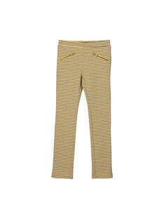 Girls' jacquard Milano trousers FALIPANT / 19S90121PAN099