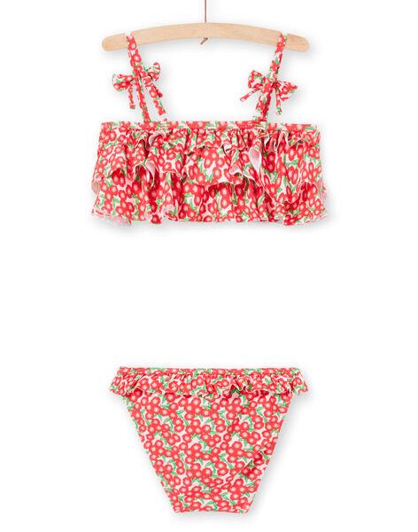 Baby girl pink 2-piece swimsuit LYABIK1 / 21SI01DIMAI309