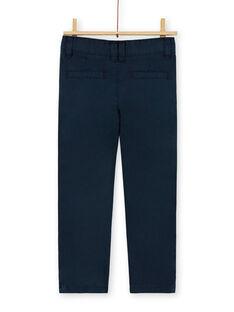 Chino navy blue cotton boy boy LOJOPACHI2 / 21S90235PAN705