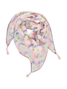 Girls' triangular scarf CAFPRFOULEX / 18SI0121FOU099