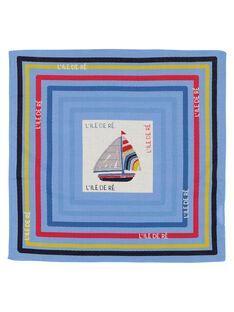 Boys' printed scarf FYOBELBAN / 19SI02R1FOUC201