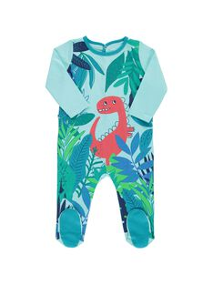 Baby boys' cotton sleepsuit CEGUGREDIN / 18SH1461GRE210