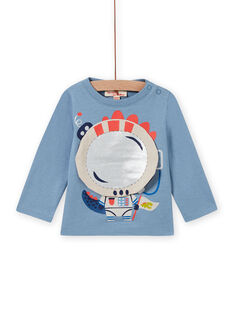 Baby boy's horizon blue dragon animation t-shirt MUPLATEE1 / 21WG10O2TML216