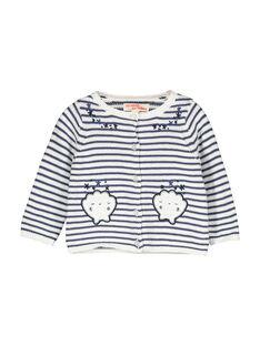 Baby girls' striped cardigan FINECAR1 / 19SG09B1CAR000