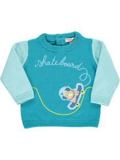 Turquoise Pullover CUHOPUL / 18SG10E1PUL202