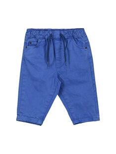 Baby boys' blue trousers FUJOPAN2 / 19SG1032PANC207