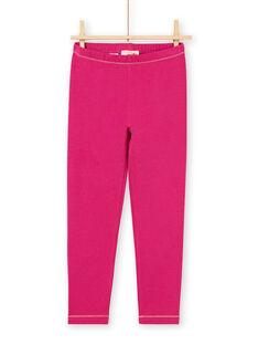 Baby girl dark pink legging with gold details MYAJOLEG3 / 21WI0111CALD312