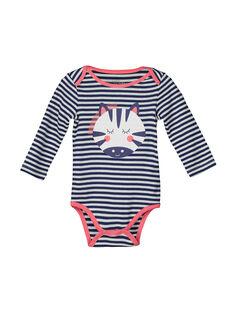 Girls' long-sleeved striped bodysuit FEFIBODZEB / 19SH1355BDL099