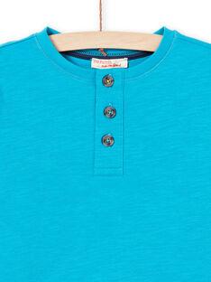 Boy's turquoise T-shirt MOJOTUN3 / 21W90211TMLC211