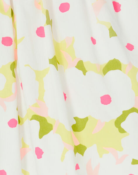 White and green floral print skirt LAJAUJUP2 / 21S901O1JUP000
