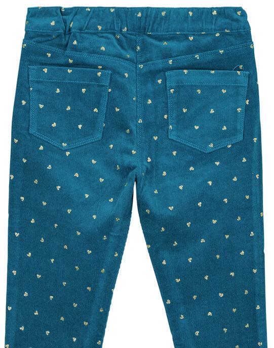 Pantalon en velours imprimé en glitter doré clair GAMUPANT / 19W901F1PAN715