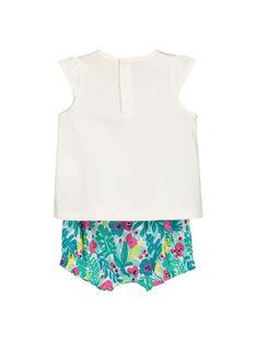 Baby girls' vest and bloomer set FIPLAENS2 / 19SG09P2ENS000