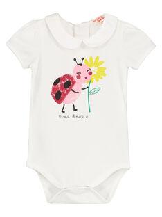 Baby girls' cotton bodysuit FIYEBOD / 19SG09M1BOD000