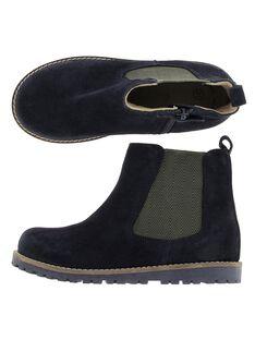 Boys' leather boots DGBOOTCHE1 / 18WK36T1D0D070