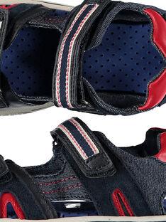Boys' smart sandals in two fabrics FGSANDSPOR / 19SK36D1D0E070