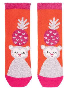 Light orange Socks JYAVICHO / 20SI01D1SOQ406