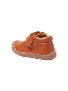 Baby boy camel leather booties MUBOTIFLEXTAN / 21XK3852D0F804