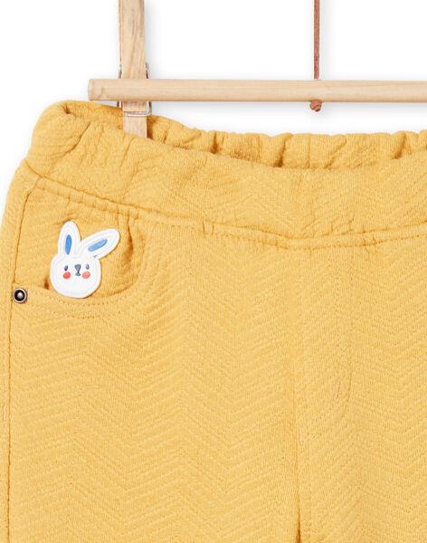 Baby boy yellow pants MUMIXPAN2 / 21WG10J1PAN117