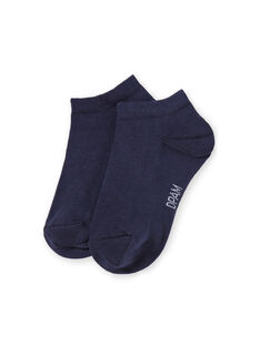 Baby boy navy blue socks LYOESSOQ4 / 21SI0261SOQ070