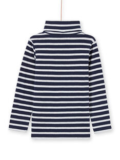 Boy's long sleeved midnight blue and white striped underpants MOJOSOUP4 / 21W902N4SPL705