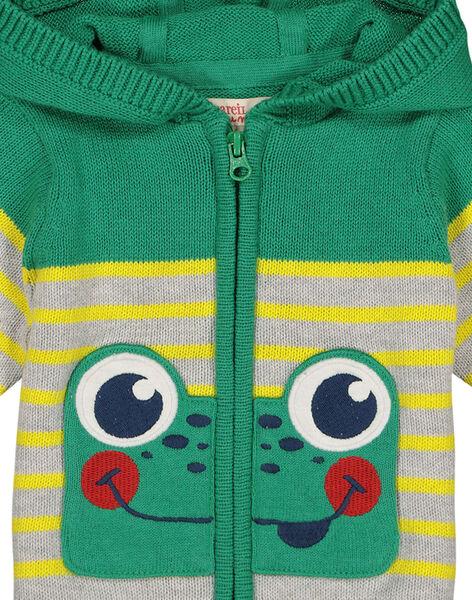 Baby boys' zipped hooded jacket FUCAGIL / 19SG10D1GIL099