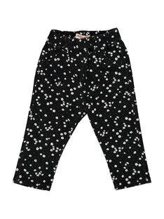 Baby girls' twill trousers CIBENPAN2 / 18SG09G2PAN099