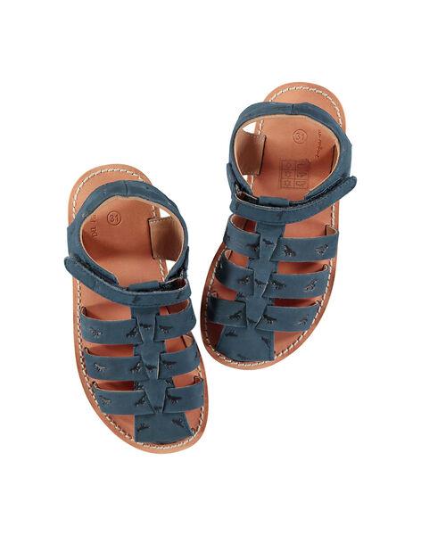 Boys' smart leather sandals FGSANDINO1 / 19SK36C1D0E070