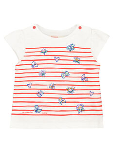 Baby girls' printed short-sleeved T-shirt FITOTI2 / 19SG09L2TMC000