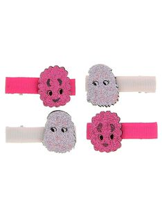 Set of girl's hair clips DYAROUCLIC1 / 18WI0122BRT099