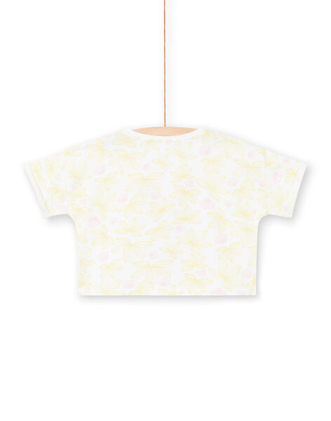 T-shirt short sleeves flowery print and zebra head embroidered child girl LABONTI3 / 21S901W2TMC000