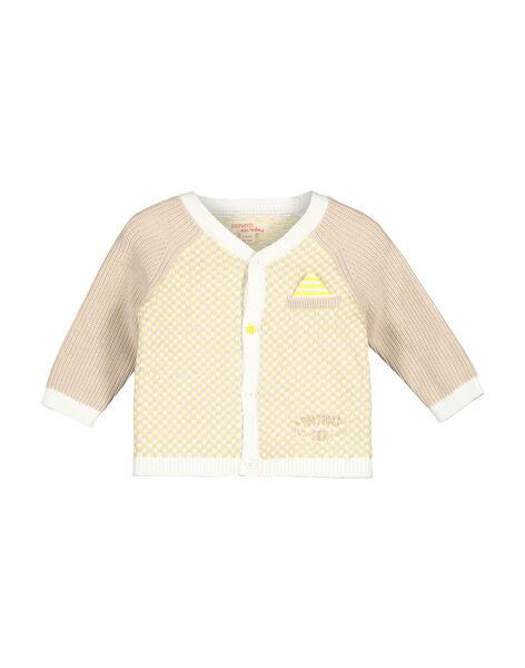 Baby boys' knit cardigan FUPOGIL / 19SG10C1GIL099